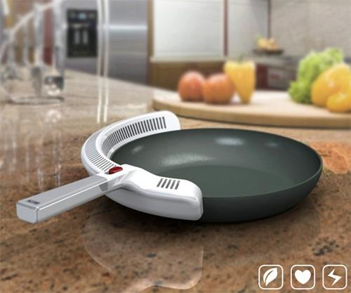 сковородка с очистителем воздуха