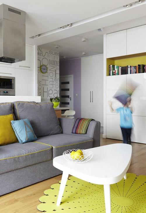 оригинальное многоцветье в современной квартире