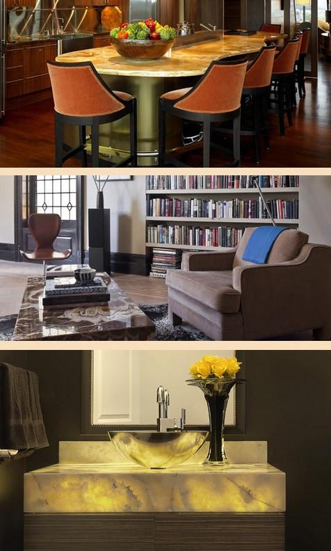 мебель из оникса