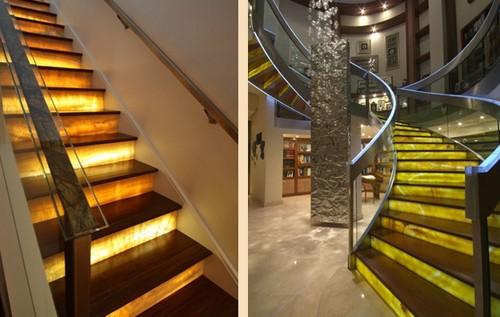оникс в дизайне лестниц