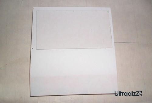 приклеивание картона к блоку для записей
