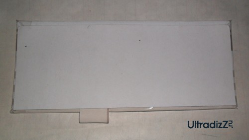 оклеивание тонким картоном задней части блока