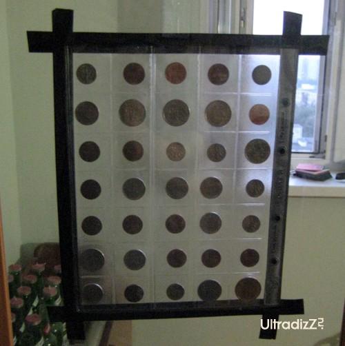 обратная сторона коллекции монет