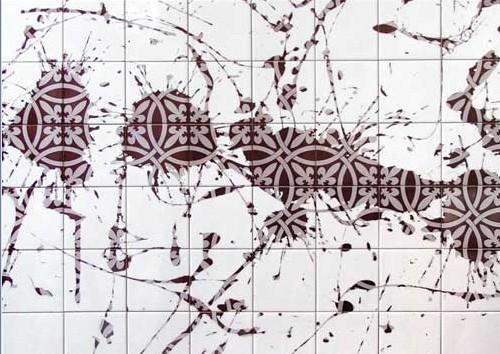 креативное окрашивание керамической плитки