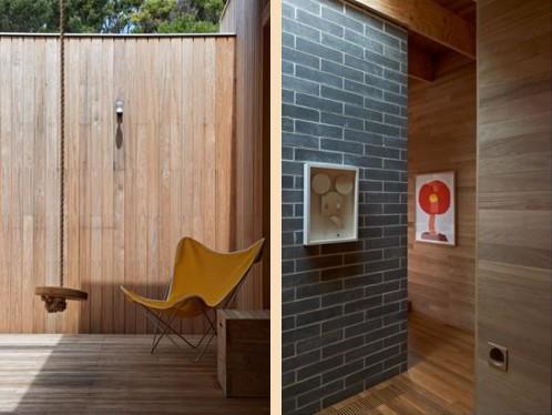 деревянная облицовка фасада и интерьера