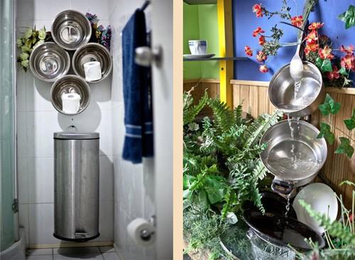 дешевая посуда как необычный декор дома