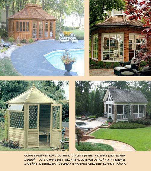 беседки в виде садовых домиков