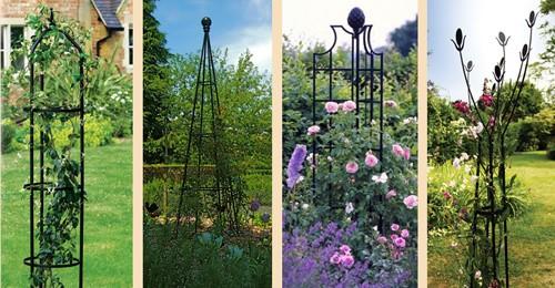 металлические садовые обелиски
