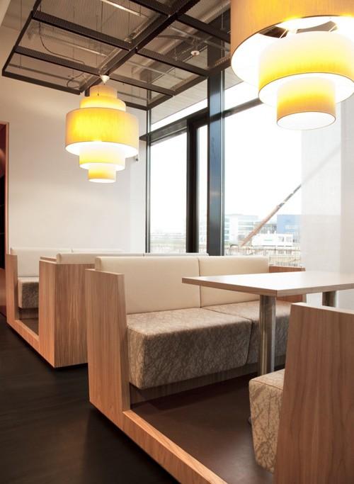 офисные светильники в столовой