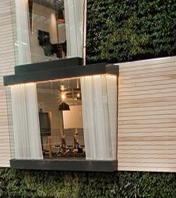 вертикальное озеленение офисного здания