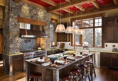 комбинированный кухонный остров