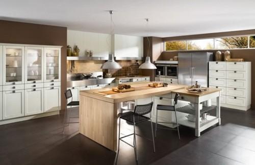 современный деревянный кухонный стол