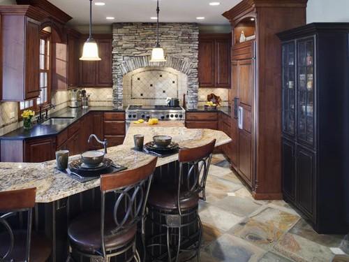 кухонный стол с каменной столешницей