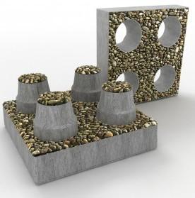 декоративные строительные блоки из пластиковых отходов