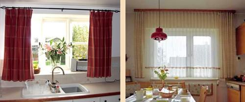 шторы для кухни городского стиля