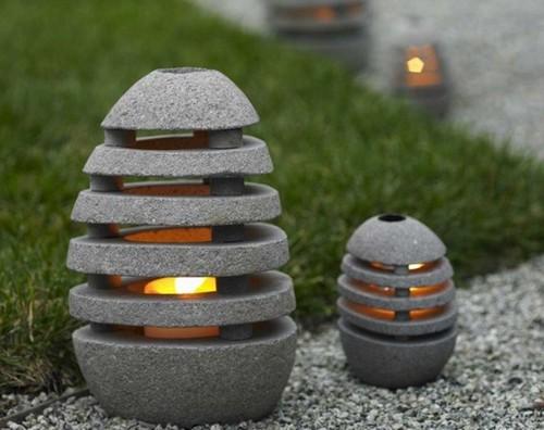 оригинальные ландшафтные светильники для садовых дорожек