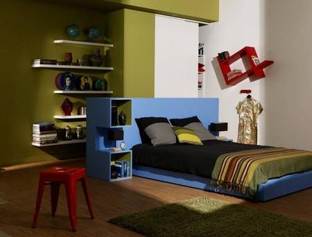 контрастные цвета в интерьере для подростка