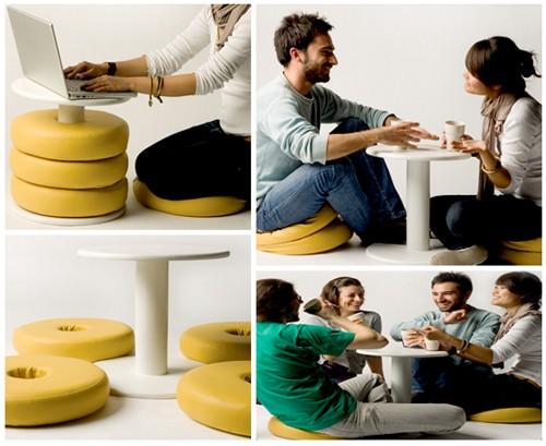 креативная мебель для молодежных интерьеров