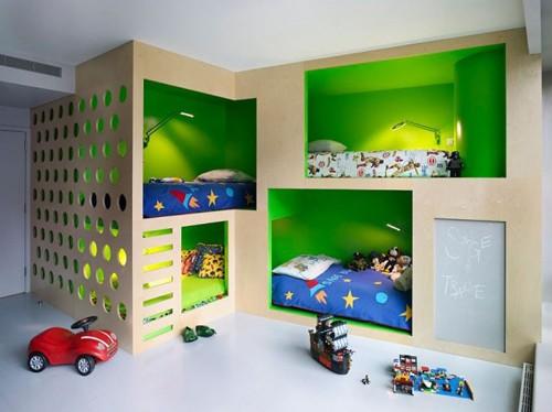 дизайн детской для четырех детей
