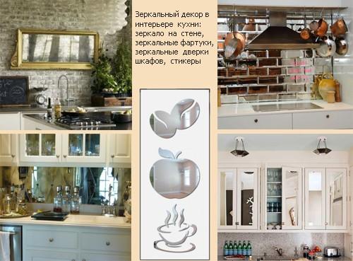 обновление кухни с помощью зеркал