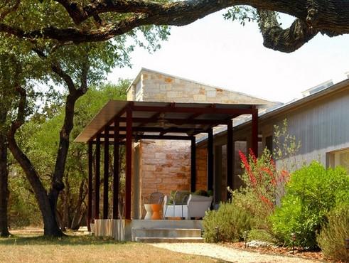 современное металлическое крыльцо для традиционного дизайна дома
