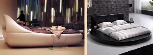 роскошный дизайн кожаных кроватей