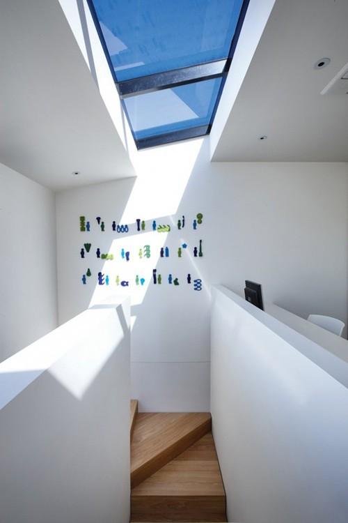 дизайн лестницы в узком доме