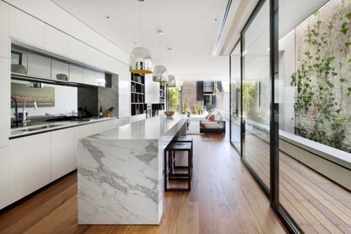 планировка интерьера в узком доме