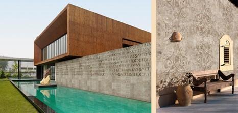 обои для фасада в стиле графического бетона