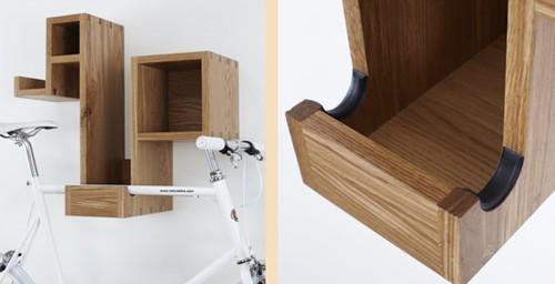 дизайн и детали полки-держателя для хранения велосипеда