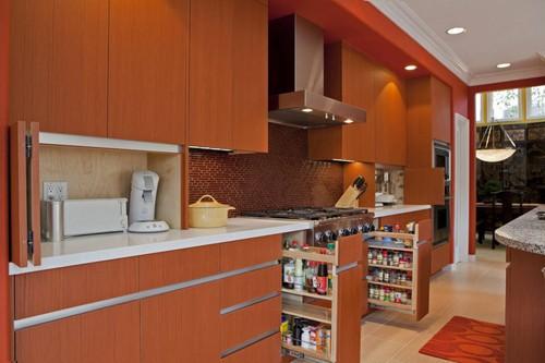 современное обустройство кухни