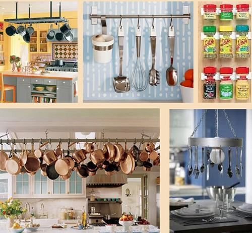 вертикальное обустройство кухни