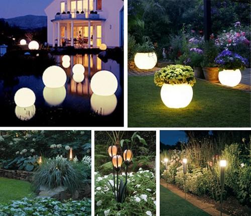 светильники для лунного сада