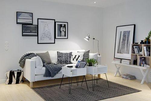 ремонт однокомнатной квартиры в черно-белой гамме