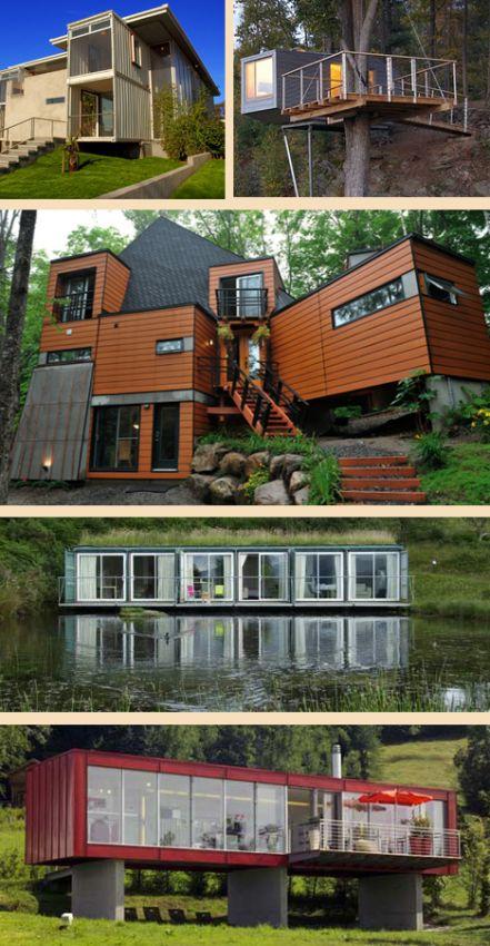 строительство домов из контейнеров на разных участках