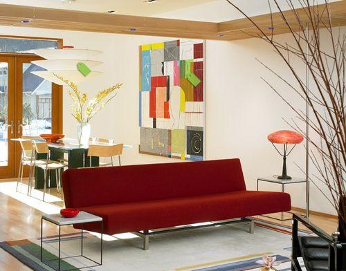 абстрактные картины Ричарда Роблина в интерьере
