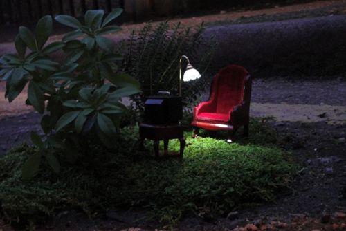 ночной миниатюрный сад