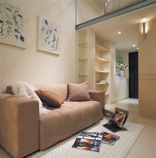 зона гостиной в маленькой квартире