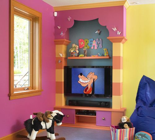 украшение детской комнаты красочными буквами