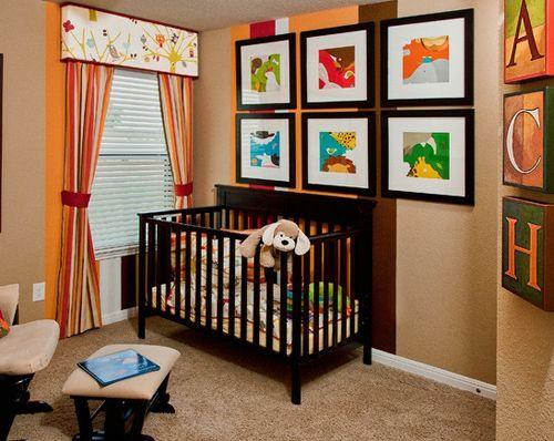 графический декор комнаты малыша