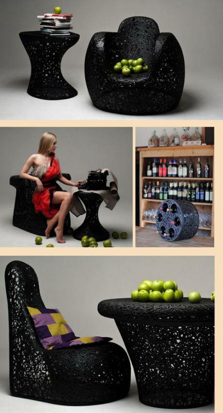 мебель из базальтового волокна в интерьере