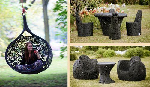 мебель из базальтового волокна в ландшафтном дизайне