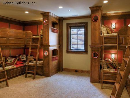 детская спальня для нескольких детей