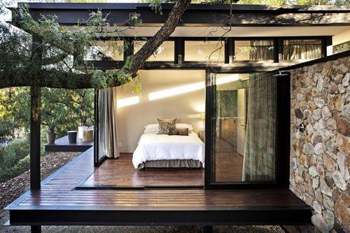 интерьер спальни в каркасном доме