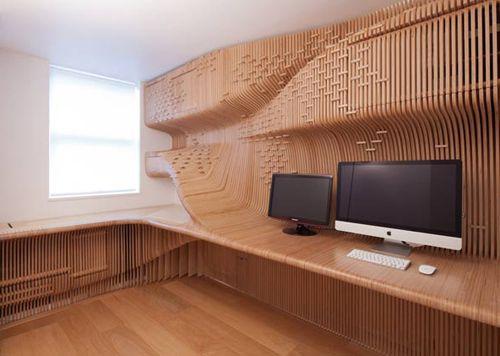 мебель для домашнего офиса из березовой фанеры