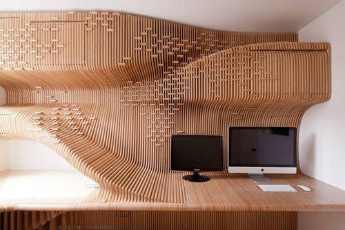 скульптурная деревянная мебель для частного офиса