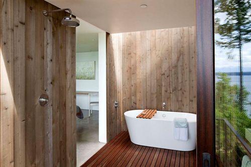 раздвижная дверь в дизайне ванной