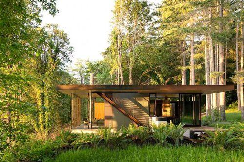 современный фасад дачного домика