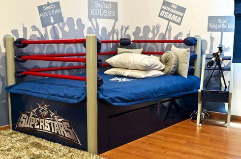 кровать ринг в подростковой спальне