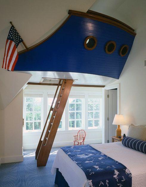 скульптурная конструкция в интерьере детской спальни